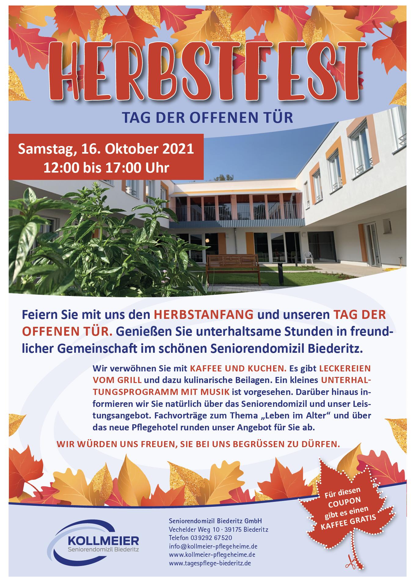 Herbstfest / Tag der offenen Tür